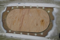 Temporary plywood lid
