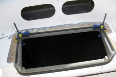 Engine room hatch flange dry fitted