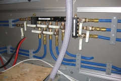 laying out fuel plumbing in engine room