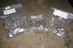 200 stainless steel bolts, nuts and washers.