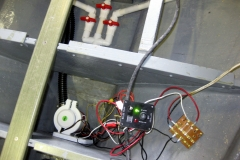 Makeshift wiring for testing pump